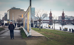 Both sides of the wall (joshdgeorge7) Tags: berlin wall war germany tourist tourism sides concrete graff graffiti art culture architecture old new seperate bridge winter holiday