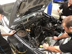 Engine is out. (andrew edgar .......) Tags: subaru impreza wrx silver turbo awdcar sydney blacktown