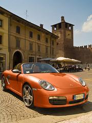Parked in Verona (DavidHowarthAgain) Tags: verona italy august 2008 porsche