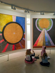 Art Class (Chris Protopapas) Tags: iphone hilmaafklint art newyorkcity guggenheim painting visionary geometric abstraction abstract theosophy swedish museum gallery artclass children