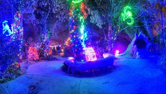 tunnel to below (JoelDeluxe) Tags: rol riveroflights abq biopark nm december 2018 albuquerque biological park pnm light display colors lights sculptures fantasy newmexico hdr joeldeluxe
