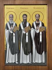 Образ трех святителей: Григория Богослова, Василия Великого и Иоанна Златоуста (в технике энкаустики)