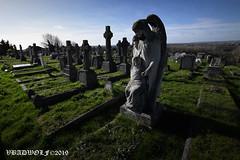 Graveyard - Greenwich Cemetery (vbadwolf) Tags: graveyard graveyards gravestone gravestones gothic goth cemetery cemeteries greenwich london greenwichcemetery statue angel angels grave graves