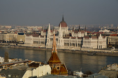 Parliament Across The Danube, Budapest (The_Kevster) Tags: hungary budapest danube river riverbank architecture capital buda pest parliament light water europe reflections spire dome