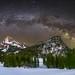 Alpstein milky way panorama