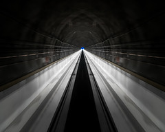 Prepare to jump into hyperspace! (ramvogel) Tags: sony a6300 sony18105mm symmetry light train switzerland limmern abstract cabelcar