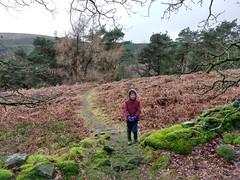 Sam stood next to a mossy wall (Bods) Tags: walk peakdistrict goytvalley foxlowedgewalk highpeak derbyshire foxlowedge peakdistrictnationalpark