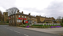 The White Lion at Kildwick (Gerry Hat Trick) Tags: wednesdaywalk walking walk hiking hike airedale river aire pub public house kildwick church canal leeds liverpool skipton steeton white lion hotel north yorkshire