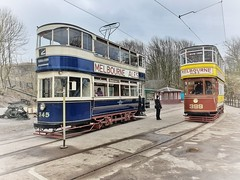 Leeds 345 & Leeds 399 (hougtimo88) Tags: crich tramway heritagetrams heritagetram trams tram leeds399 leeds345