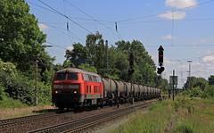 Erinnerungen (14) (Klaus Z.) Tags: eisenbahn kbs 380 bremenmahndorf br 225 güterzug kesselwagen db cargo sommer