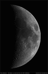 Moon (39,4%) (Andries Cafmeyer Astrophotography) Tags: moon luna bortle5 celestron cgx skywatcher explorer 150pds baader mpcc zwo asi 183mm pro firecapture autostakkert registax adobe photoshop astronomy astro astrophotography