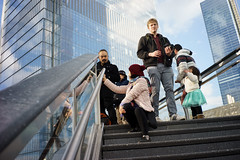 Visitors (dtanist) Tags: nyc newyork newyorkcity new york city sony a7 7artisans 35mm vessel public space hudson yards stairs visitors tourists