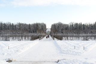 Sunny frosty day. Hermitage.