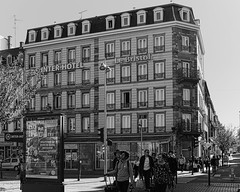 Hotel Bristol, Strasbourg (velodenz) Tags: velodenz fujifilmx100f holiday vacation vacances urlaub trip travel switzerland suisse schweiz svizzera svizra railway touring company rtc silkypix hotel strasbourg france hotelbristol lebristol alsace mono