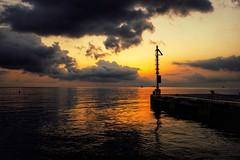 Beach of Canneto (basti k) Tags: beach strand meer mittelmeer mediterranean ocean italy italia italien sony a6000 sun sunrise clouds sigma