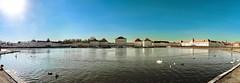 February sun (werner boehm *) Tags: wernerboehm nymphenburgpalace pano munich lake architecture hugin