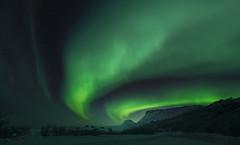 Aurora borealis over Mortensnes - VJ3_8323 (Viggo Johansen) Tags: auroraborealis northernlights night mortensnes varanger finnmark landscape