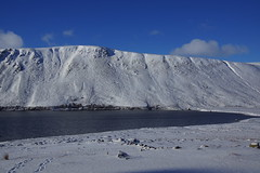 Loch Muick and Snow (steve_whitmarsh) Tags: aberdeenshire scotland scottishhighlands highlands mountain winter snow water loch lochmuick lake glen topic cairngorms