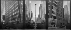 OKC Street - Triptych (Nathan Hillis Photography) Tags: olympus penef film analog oklahoma oklahomacity city ruban urban street building architecture architectural blackandwhite