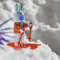 something went wrong (genelabo) Tags: partnachklamm garmisch partenkirchen partnach klamm bayern winter bavaria black sony 6300 rock fels stein mountain berg berge lego minifig minifigure toy fun figure square quadratisch snow schnee easter rabbit osterhase orange photoshop skiing ski skifahren