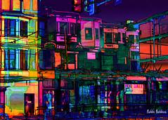 7th Street (brillianthues) Tags: philadelphia urban city street badlands colorful collage photography photmanuplation photoshop