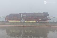 Floating (BackOnTrack Studios) Tags: dr 50 3670 36702 dampflok dampflokomotive steam locomotive loco unloading floating crane titan drb railways train lok bulgaria ruse port danube