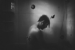 Sea at home (f.concord) Tags: nude bathroom shower selfportrait wet water crystal body