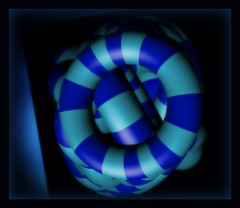 -Nautical Blu (SDG DiamondHead Photo Art) Tags: art digitalart contemporaryart geometricart torus shapes stripes blueart bluestripes diamondheadphotoart nauticalblu