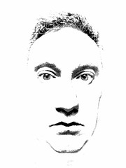 Disembodied (spratpics) Tags: photographybypaulwalker paulwalker teesside uk portait blackandwhite face artisticphotography monochrome disembodied
