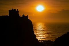 Dunnottar Castle Sunrise (PeskyMesky) Tags: aberdeen aberdeenshire stonehaven dunnottar dunnottarcastle sunrise sunset sun red sky landscape silhouette canon canon5d eos