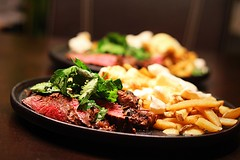 Steak and poutine! (corineouellet) Tags: canonphoto delish delicious angle focus details détails visuel artofplating plating poutine steak menu entree yummy yumyum tasty cooking cook foodies food