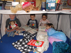 Hibernating: Mrs. Troutman's class hibernated with stuffed animals and good books. (st.brigid2) Tags: march