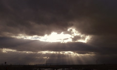 God rays (born to be an artist) Tags: sky clouds godrays airplane airport