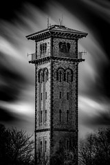 Cleadon Water Tower (solidtext) Tags: blackandwhite mono chimney cleadon hills water tower works brick building long exposure