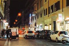 Roma (goodfella2459) Tags: nikonf4 afnikkor50mmf14dlens cinestill800t 35mm c41 film analog colour night city streets road cars traffic roma italy rome light buildings