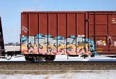 Corpse (quiet-silence) Tags: graffiti graff freight fr8 train railroad railcar art corpse sfr hd boxcar bnsf bnsf722185