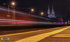 Cologne! (Betrachtungsweisen) Tags: köln cologne bahnhof eosm50 cathedral longexposure city canon langzeitbelichtung kölnerdom lighttrail citylights railwaystation germany stadt rheinland nrw