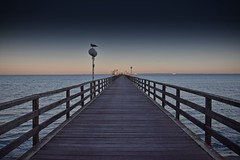 Way to horizon (Kai Beinert) Tags: horizont horizon landscape landschaft natur nature pier steg ostsee grömitz deutschland germany sea coastline meer beach strand sand küste sky himmel perspektivisch perspektive sunset sunrise art travel traveler