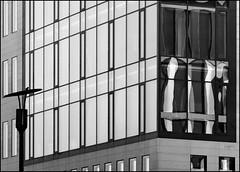 The lantern (Logris) Tags: laterne lantern sw bw architektur architecture reflections spiegelungen windows fenster