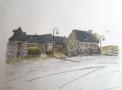 Village de Vines Aveyron 12 (J-M.I) Tags: aquarelle art house architecture haute watercolour aveyron 12 dessin illustration graphisme aubrac vines artiste exposition crayons de couleur encre chine