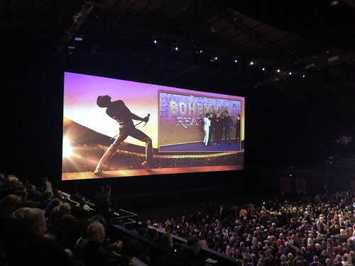 The SSE Arena, Wembley, for the premiere of Bohemian Rhapsody