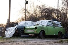 Two Autos (GelbGleb) Tags: colored цветное фото photo авто зеленый черный black green