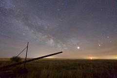 core  MW clouds (John Andersen (JPAndersen images)) Tags: abandoned alberta aurora clunycanon cold constellations farm night pond sky spring stars