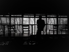 (Luther Roseman Dease, II) Tags: monochrome light design background humanelement silhouette contrejour depth form framing lines noireetblanc mood atmosphere dream candid unposed angle artist blackandwhite composition contrast darkened shadows streetphotography fineartphotography lutherrosemandeaseii impression bw edges window highcontrast lowkey people work