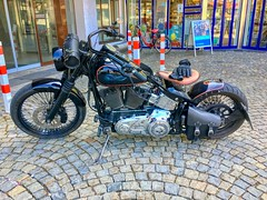 Harley-Davidson motorbike seen in Kiefersfelden, Bavaria, Germany (UweBKK (α 77 on )) Tags: harleydavidson harley davidson motorbike bike kiefersfelden bavaria bayern deutschland germany europe europa iphone