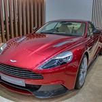 Red Aston Martin Vanquish Coupe at the 40th Bangkok International Motor Show at IMPACT Challenger hall in Muang Thong Thani, Nonthaburi thumbnail