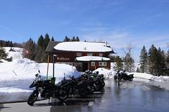 Motorrad am Schnee