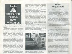 Carless plc magazine, 1988, with details of Anglo Unleaded and Mallwyd Service Station (Dan Lockton) Tags: anglo anglopetroleum carless carlessplc carlesscapelandleonard bulldog petrol petrolstation enerco quest unleaded midwalesdevelopmentauthority fordgranada e852kpv