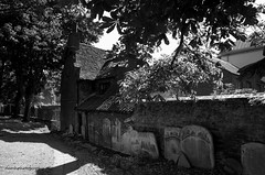 Exorcists Cottage (damhphotography) Tags: ghost bw blackandwhite graves monochrome spooky norfolk church kingslynn