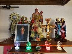 Filipino Altar (FotoGrazio) Tags: philippines catholic christianity idols statues religiousart altar christmas easter cruxifix religions maryandjoseph pray faith amen stilllife waynegrazio fotograzio waynesgrazio waynestevengrazio filipino worship penance devotion belief